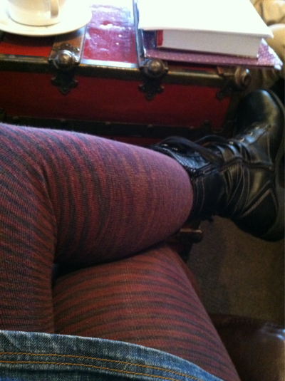 Studying! EG Smith Space Dyed Tights (Eclipse)