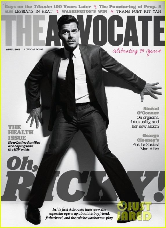 "imwithkanye:  Oh, Ricky! | The Advocate ""Even the lesbian studio manager—no stranger to superstar photo sessions—is hovering about, clearly smitten with Martin."" You can read a Spanish-language version of the interview here.  HOTNESS"