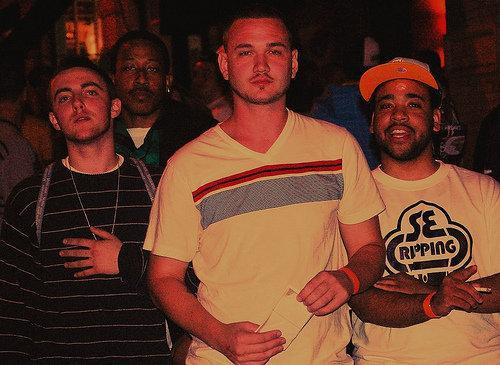 Myself with @MacMiller @VinnyRadio @PalermoStone outside Shadow Lounge circa 2009 #throwbackthursday #eastendempire