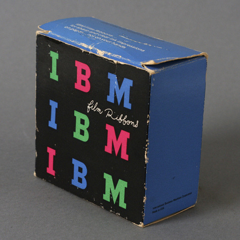 Vintage IBM Film Ribbon Packaging by Paul Rand)