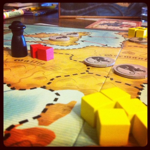 What to do when studying the Black Death?  Play Rattus, of course.  #boardgames #homeschool  (Taken with instagram)