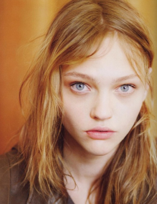 Sasha Pivovarova photographed by Daniel Jackson for i-D Magazine