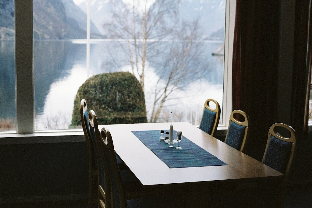 Dining room, Flåm, Norway.