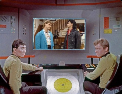Here, I'll get you started. What is the Enterprise bridge crew watching today?