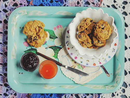 hipsterfood:  Vegan Cherry Scones
