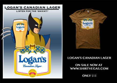 Another Mutant/Beer label mashup.   Get yours at SHIRTVEGAS now for only $13, bub!
