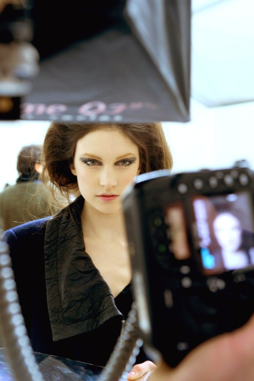 Jacquelyn Jablonski at Chanel Fall/Winter 2010/2011 Backstage