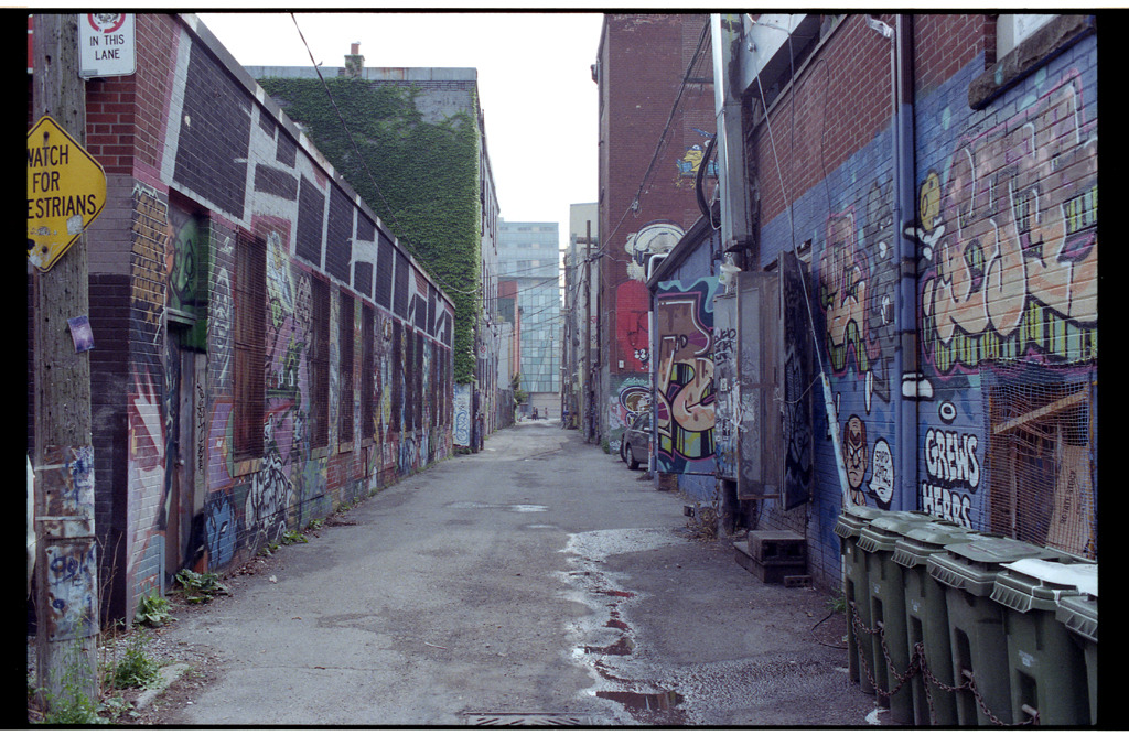 generic alley scene in passing on Queen St. W - Summer 2011