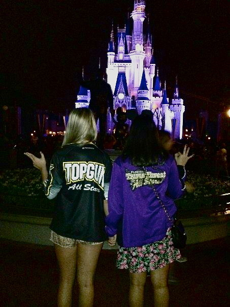 itsalex-bitch:  Top gun + triple threat= <3 Friends forever disney world <3 cheerleaders   This is amazing !