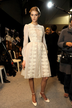Backstage at Valentino Fall 2012 Source: Style