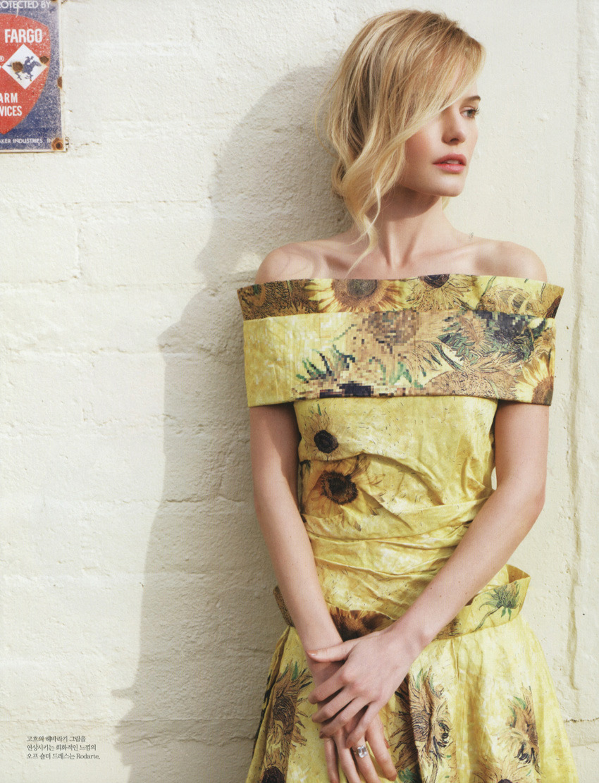 Rodarte SS12 Look #15 on Kate Bosworth in Elle Korea February