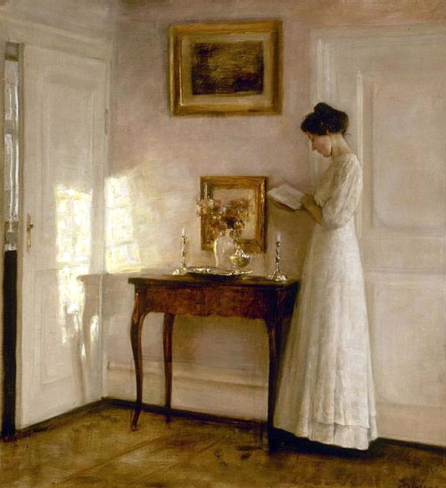 emresaygun:  Carl Vilhelm Holsoe, Lady in an interior