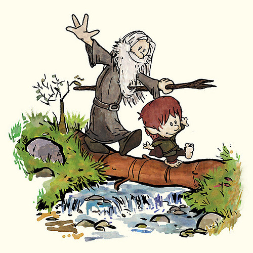 Calvin and Hobbes meet Lord of the Rings. Cool. ETA: Via Geek Art Gallery