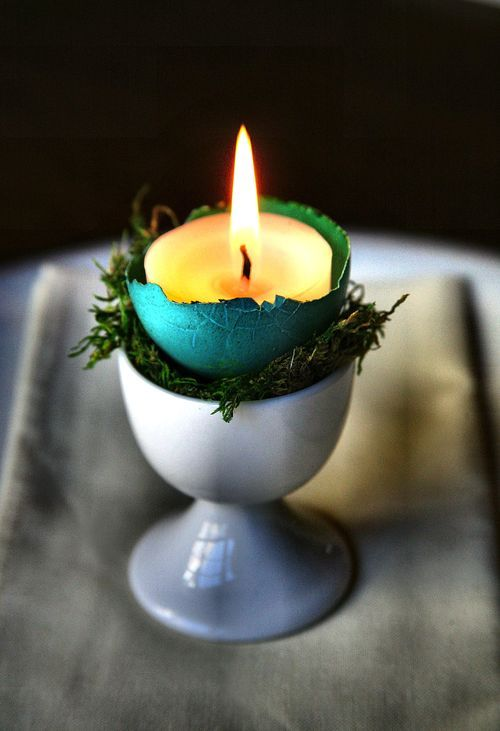 fuckyeahpaganism:  Eggshell votives. Okay, this is a really good idea.