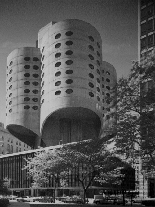 wandrlust:  Prentice Women's Hospital, Chicago, Illinois, 1975 — Bertrand Goldberg