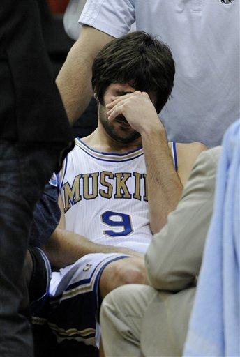 minnesotasports:  Ricky Rubio of the Minnesota Timberwolves right after he tore his Acl in the game against the Lakers.