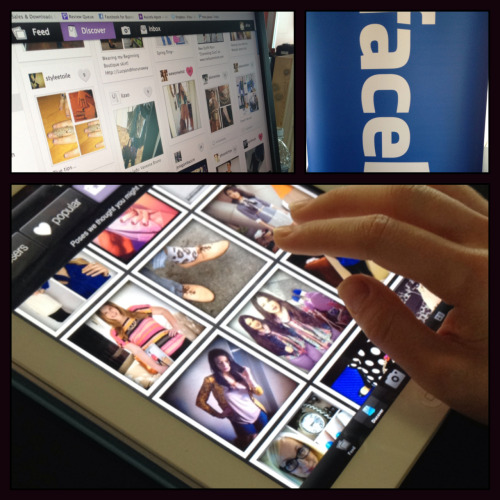 "nytsxsw:  Getting a demo of the new Timeline apps that Facebook unveiled on Monday at Southby, which includes partnerships with companies like The Onion, Fandango and Foursquare. Alisa Simon-Gould, director of marketing at Pose, a fashion app for the iPhone and iPad, showed off how the new integration will push photos and updates from the app straight to a user's Facebook page. It's similar to how Spotify users that linked their Facebook accounts to the music service can share which songs they are listening to in real-time. The benefit for companies? Massive growth and reach, she said. ""We've been seeing five times the engagement across our platform,"" she said. — Jenna Wortham  Want to see these so bad"