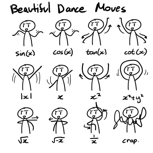 Beautiful [math] dance moves