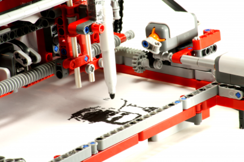 This is so cool!  PriNXT is a working printer made from Lego parts and designed by 14-year old Leon Overweel who also created a Skype controlled Lego car.   (thanks/via Lego World of MindStorms and Geek.com)