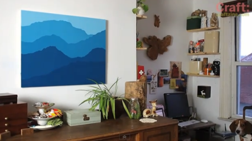DIY Color Block Mountain Painting