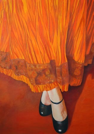 Leslie Stannage, Orange Skirt - Variation iv (2008)