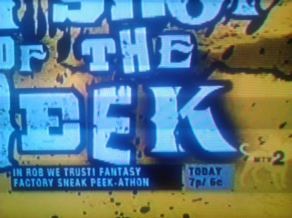 Don't forget to tune into MTV2 tonight at 7PM ET for a Rob Dyrdek's Fantasy Factory Sneak Peek-Athon of Season 5.