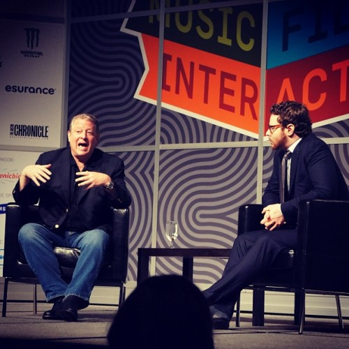 Tomando once con @AlGore y @SParker. #SXSW  (Taken with Instagram at SXSW 2012)