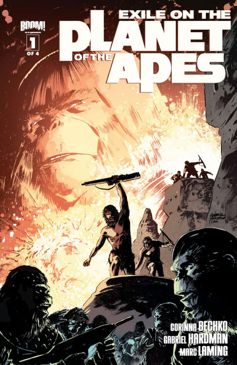 Market Monday Exile On The Planet Of The Apes #1 co-written by Corinna Sara Bechko  From the team that brought you Betrayal of the Planet of the Apes comes an all new Apes saga! Gabriel Hardman (Hulk, Agents of Atlas) and Corinna Bechko (Heathentown, Fear Itself: The Home Front) team up with red hot artist Marc Laming (American Century, The Rinse) to take the fan-favorite franchise to all new heights in this new can't-miss mini-series. With ape society gripped in uncertainty, Doctor Zaius must find a way to unite the warring factions before they rip the city apart. It's up to one lowly chimp to seek out the famed, disgraced General Aleron deep in the heart of the Forbidden Zone, with a secret that might help - or destroy!  ~Preview~