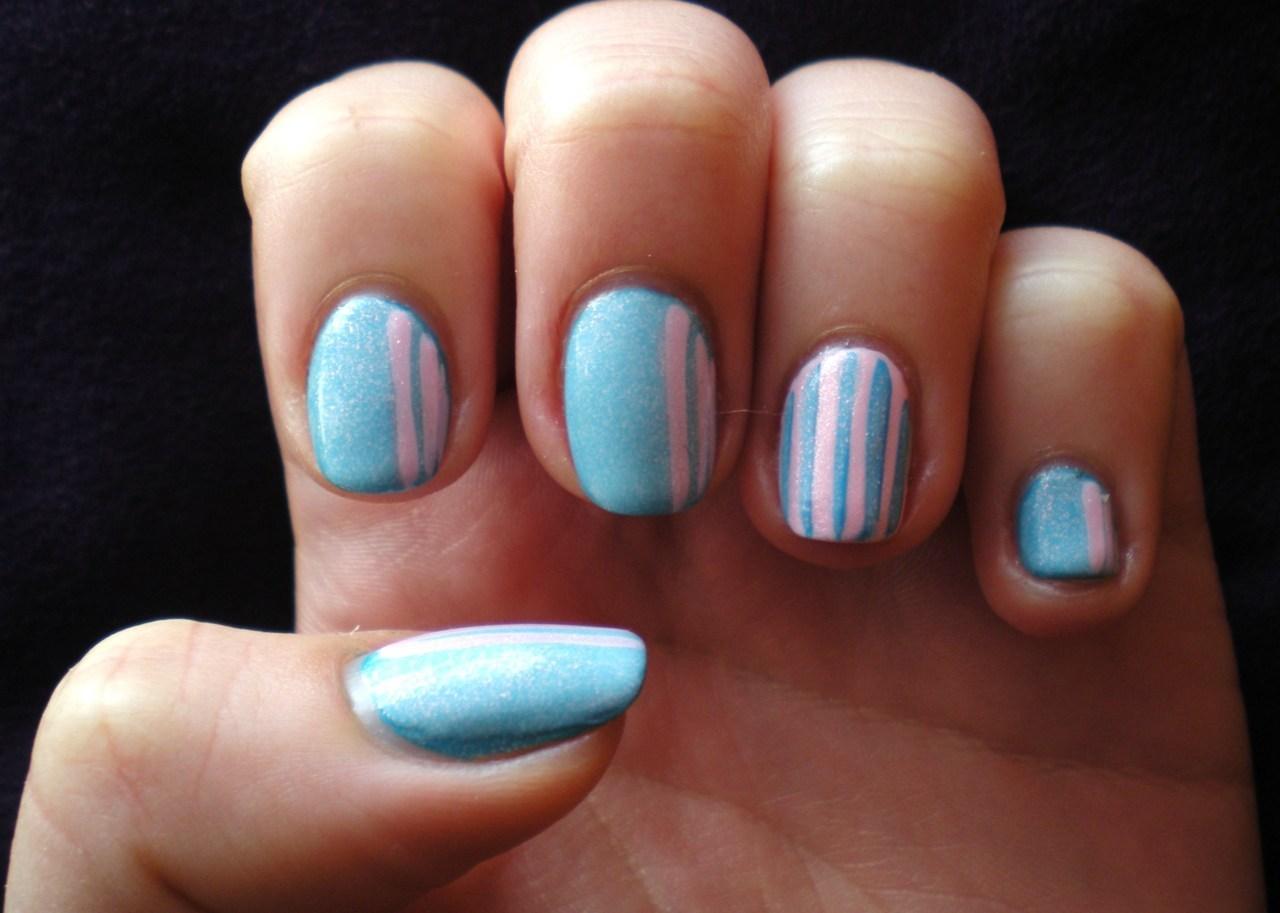 Baby Blue and Pink Stripes