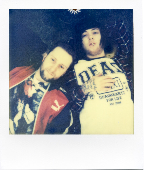 Did I tell you that I did a cool photo session with Breathe Carolina last week? I really hit it off with Kyle and David and they gave me the full run of their Hollywood Hills pad. I took them outside to the garden and pulled out my Polaroid that I bought for twenty bucks on EBAY and took this photo! I really like the relaxed moment that I was able to steal from from our session. Check out more photos on BuzzNet.  Photo by Brad Elterman shot on film by The Impossible Project