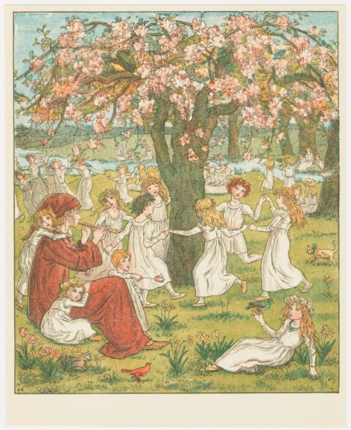 "fairytalemood:  ""The Pied Piper of Hamelin"" by Kate Greenaway (1910)"