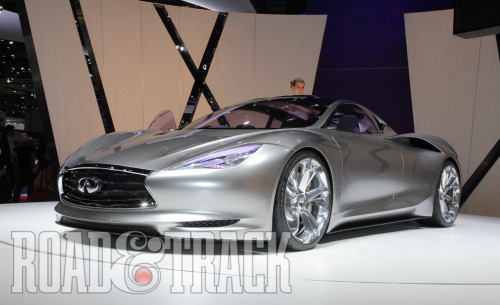 The Infiniti EMERG-E Concept represents the first Infiniti that has been developed in Europe. (Source: Road & Track)