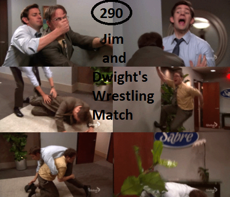 Great Things About The Office - #290 - Jim and Dwight's Wrestling Match  JACKIE CHAN!!!!