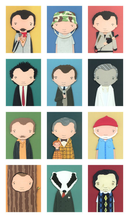 Myriad Of Murrays Bill Murray(s) illustrated by Meghan Stratman :: via bunnypirates.com