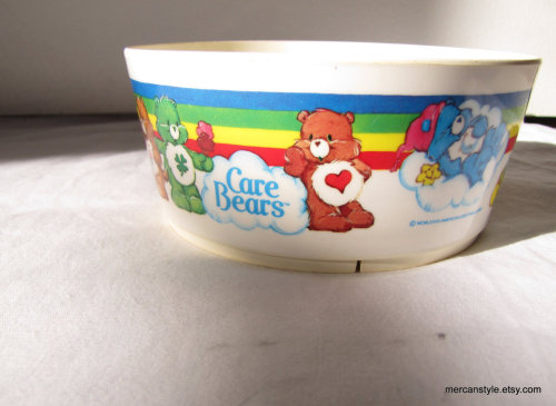 Care Bear Stare 80s Plastic Bowl by mercanstyle http://etsy.me/wtQtQ0