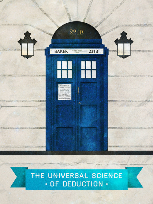 Universal science of deduction (Doctor Who & Sherlock) by Sof Andrade Poster prints // Behance // Flickr