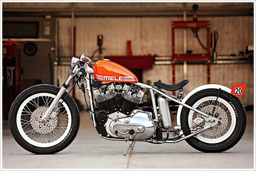 weirdbeard1978:  motoblogcl:  DP Customs - 'Mele' Ironhead  Rad.