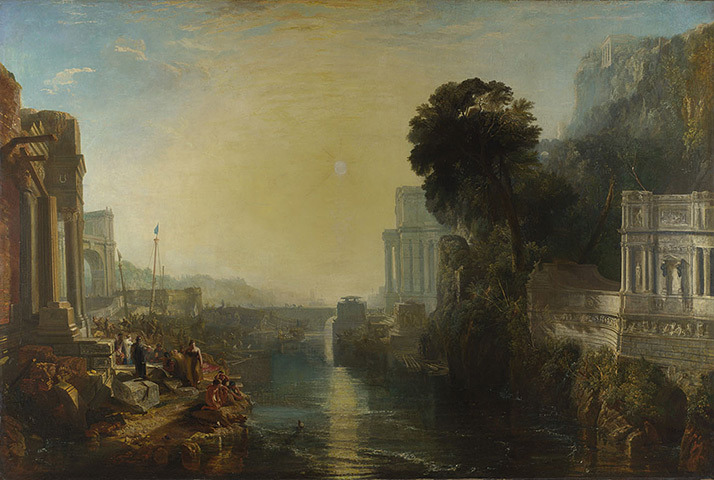 Dido Building Carthage, or The Rise of the Carthaginian Empire (1815), oil on canvas, The National Gallery, London | artwork by Joseph Mallord William Turner