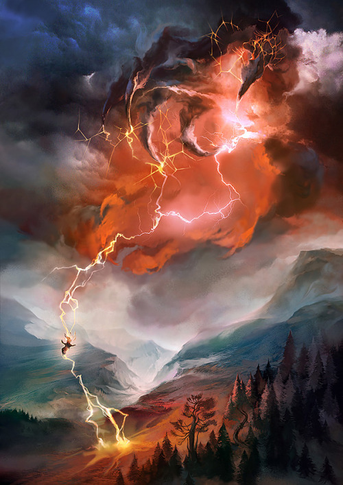 Thunderbolt and lightning—very, very frightening! Art by Veronique Meignaud.