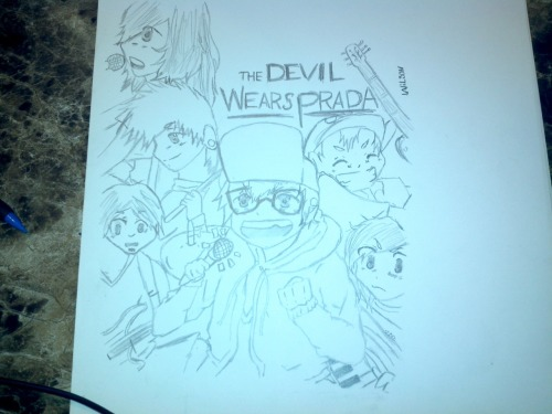 My Anime Drawing Of The Devil Wears Prada