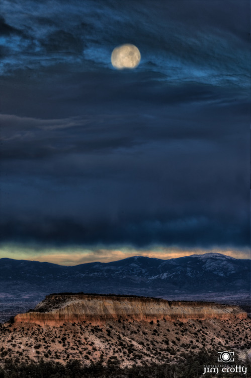 Sita Ram. Of Earth and Moon. Grace breaks through. Moonrise near Las Alamos, New Mexico.