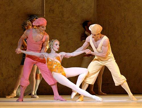 "Martin Harvey, Sarah Lamb, and Ricardo Cervera in Kenneth MacMillan's ""La Fin du Jour"" - The Royal Ballet"