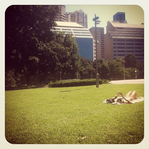 Sunny Days in Hyde Park, Sydney (Taken with Instagram at Hyde Park)