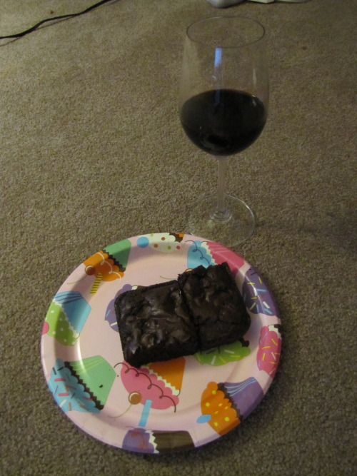 Brownies and port. -Topknot