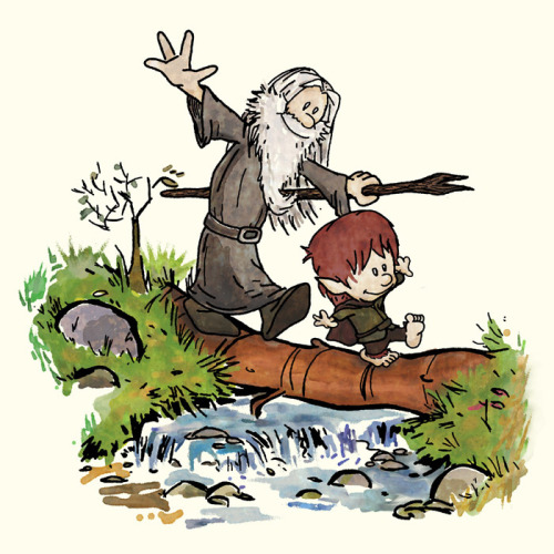 amandaonwriting:  Bilbo and Gandalf.