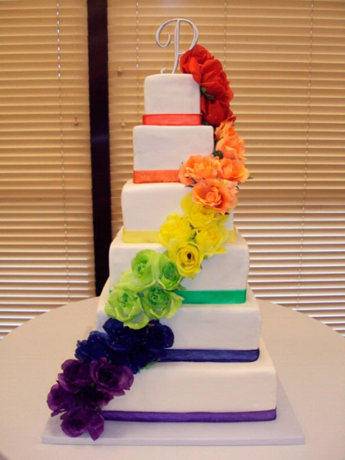 THE most beautiful wedding cake