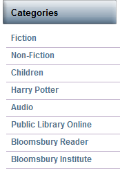Just browsing for publishing companies, visited the Bloomsbury sight, and had a good laugh at the fact that Harry Potter is it's own category. c: