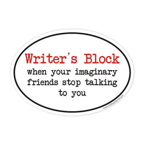 reblogged ilovereadingandwriting:  (via writers block oval sticker by BookFiend on Etsy)  Awesome gifts for booklovers: http://www.thebookfiend.com/