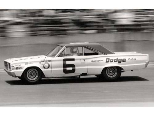 David Pearson in Cotton Owens 66 Coronet on his way to the NASCAR 1966 Championship.