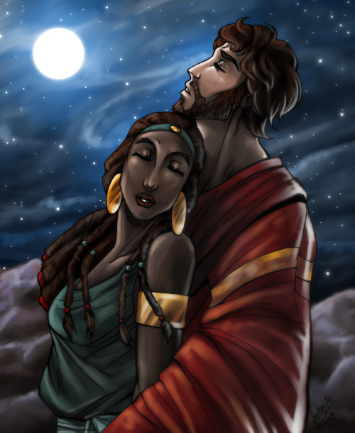 jadestone12:  CC: Moses and Tzipporah by *mistytang